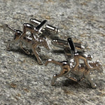 Silver Jockey and Horse Cufflinks