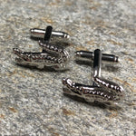 Silver Alligator Cufflinks