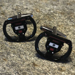 Black Gaming Steering Wheel Cufflinks