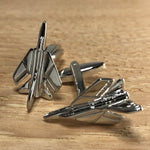 Silver F-14 Tomcat Fighter Jet Cufflinks