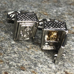 Silver and Gold Hinged Safe Cufflinks