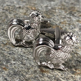 Silver Rooster Cufflinks