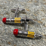 Yellow Pencil Cufflinks