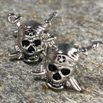 Silver Pirate Skull Cufflinks