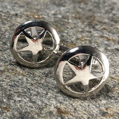 Silver Sheriff Star Cufflinks