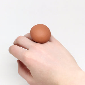 Ivona — Brown Ceramic Ring
