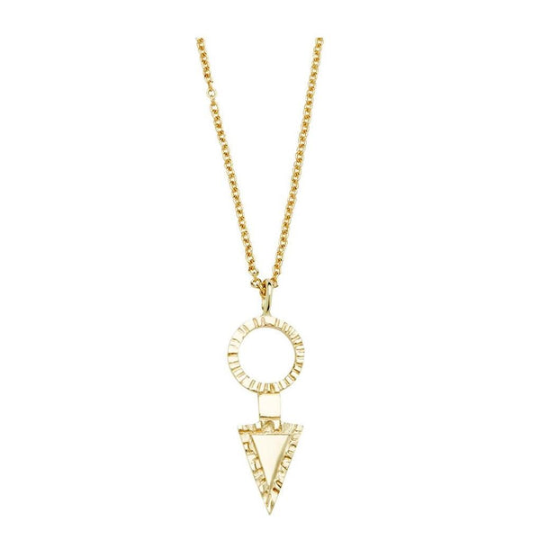 Abby Seymour — 14ct Yellow Gold Arrowhead Amulet Jewellery Abby Seymour | Craft