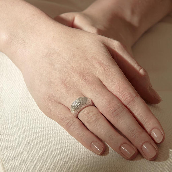 Abby Seymour — Bark Ring - Australian made Jewellery