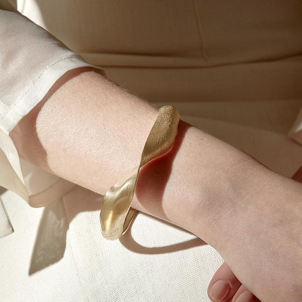 Abby Seymour — Brass Dune Bangle - Australian made Jewellery