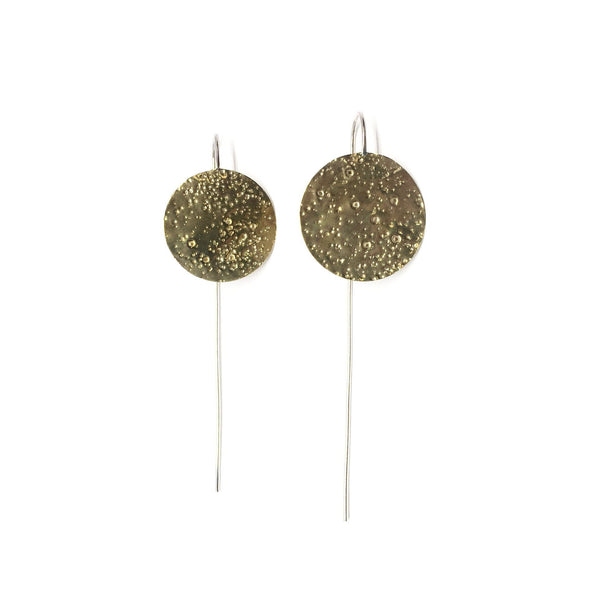Abby Seymour — Brass Moon Drop Earrings - Australian made Jewellery