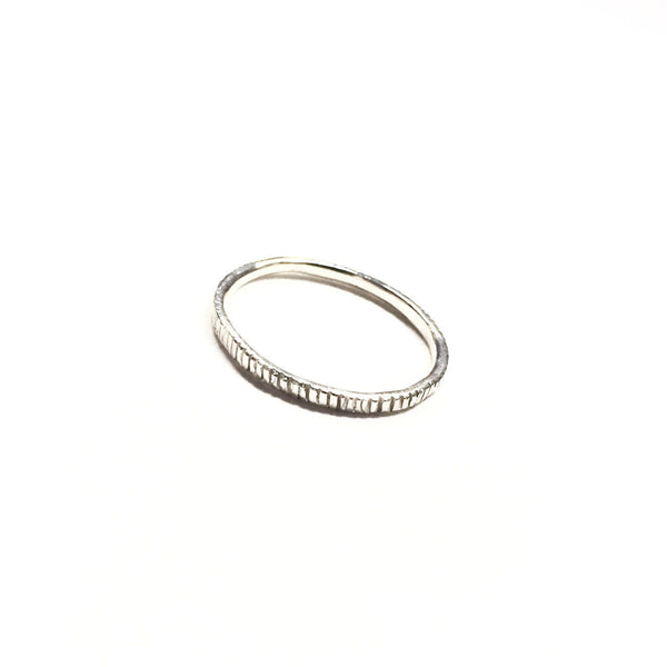 Abby Seymour — Silver Dashes Ring - Australian made Jewellery