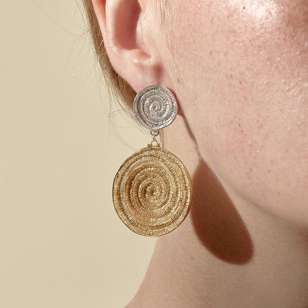 Abby Seymour — Dual Ammonite Studs - Australian made Jewellery