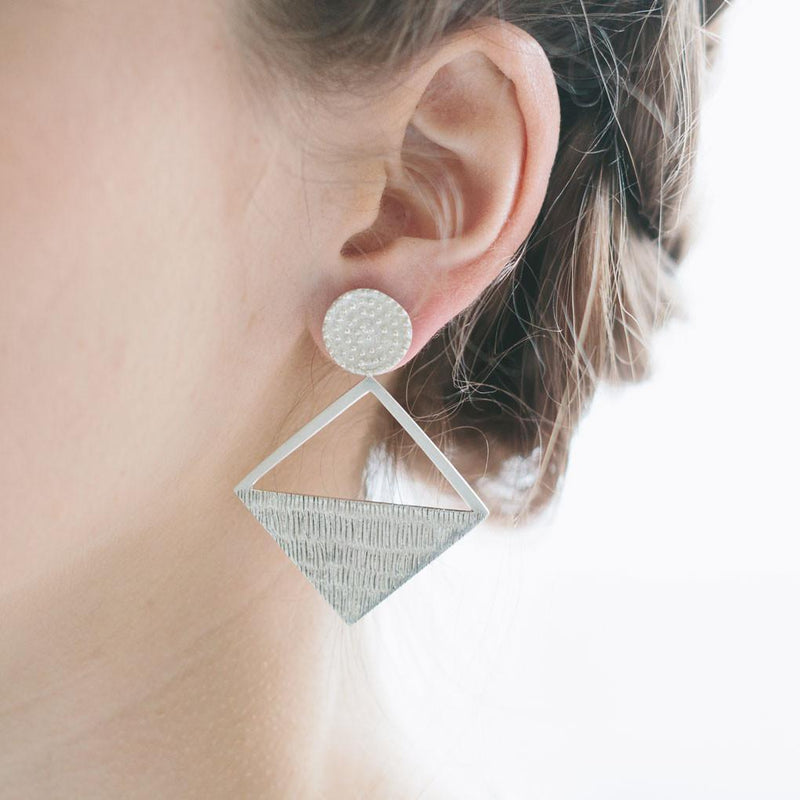 Abby Seymour — Elliptical Rhombus Earrings - Australian made Jewellery