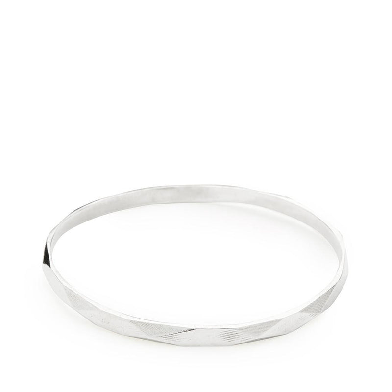 Abby Seymour — Faceted Silver Bangle - Australian made Jewellery