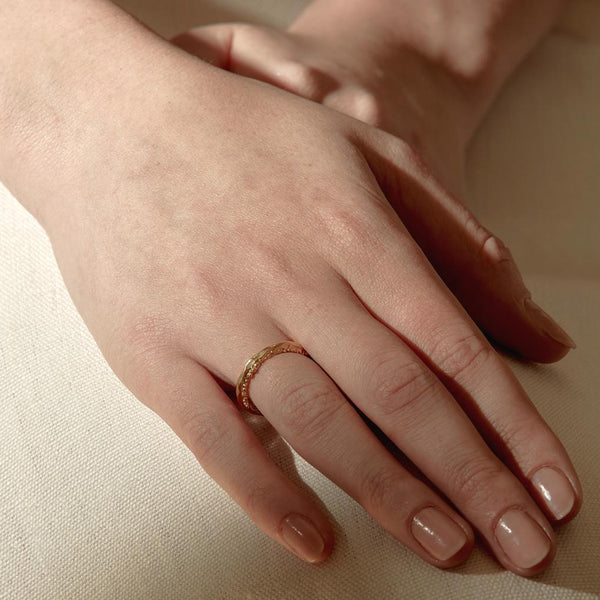 Abby Seymour — Gold Stamen Ring - Australian made Jewellery