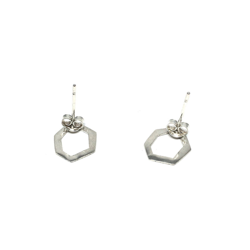 Abby Seymour — Hexagon Studs - Jewellery - Craft