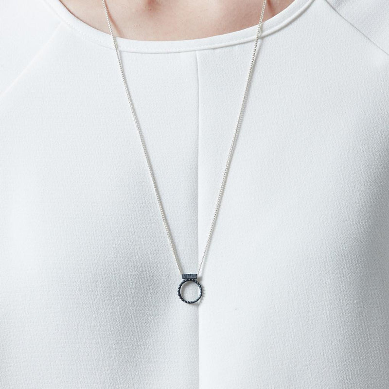 Abby Seymour — Silver and Oxidised Silver Shen Amulet - Australian made Jewellery