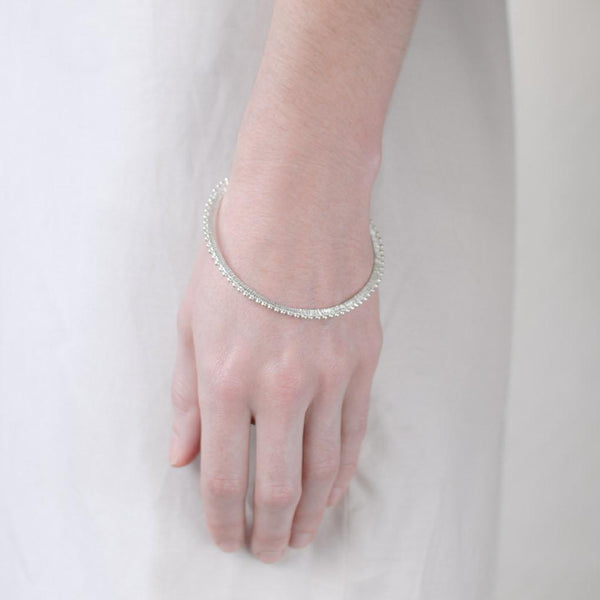 Abby Seymour — Silver Eclipse Bangle - Australian made Jewellery