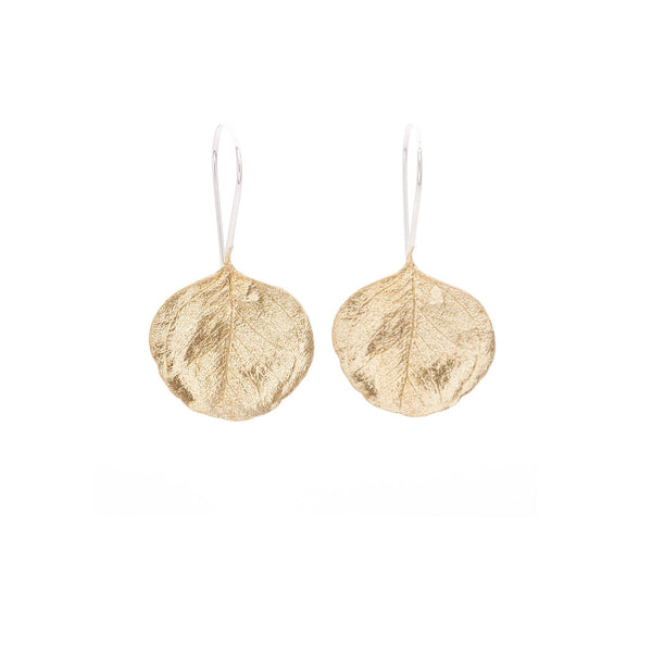 Abby Seymour — Silver Gum Hook Earrings in Brass - Australian made Jewellery