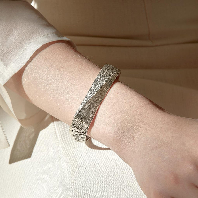 Abby Seymour — Silver Peak Bangle - Australian made Jewellery
