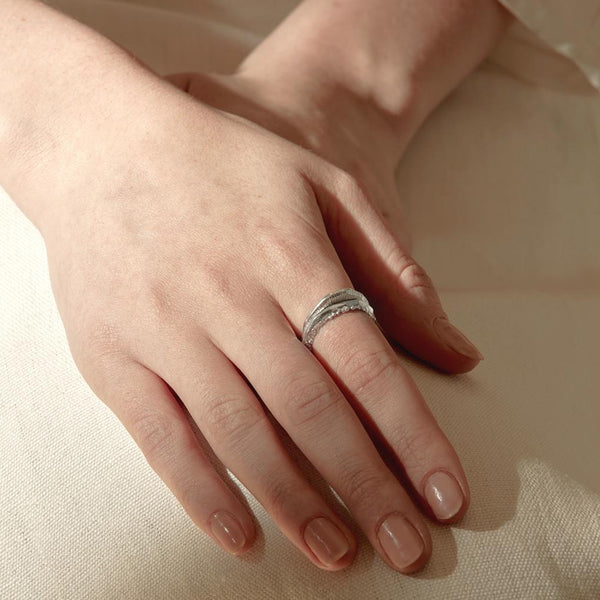 Abby Seymour — Silver Stamen Ring - Australian made Jewellery