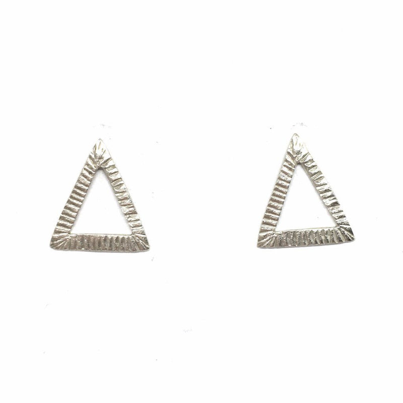 Abby Seymour — Silver Triangle Studs - Australian made Jewellery