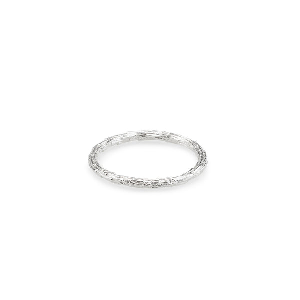 Abby Seymour — Silver Twig Ring - Australian made Jewellery
