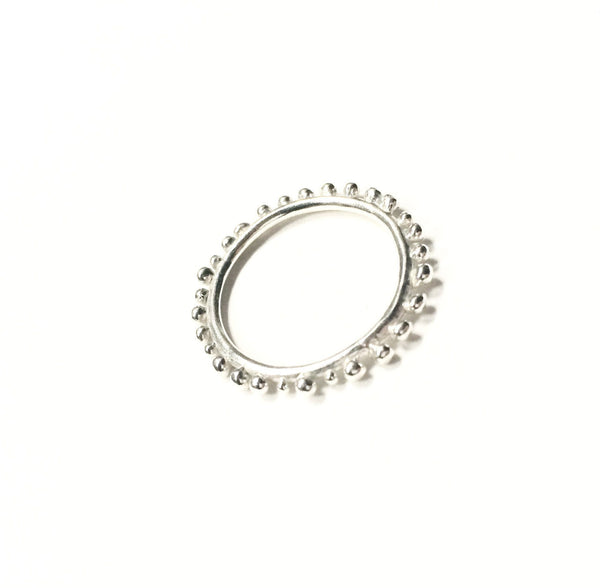 Abby Seymour — Sterling Silver Elliptical Ring - Australian made Jewellery