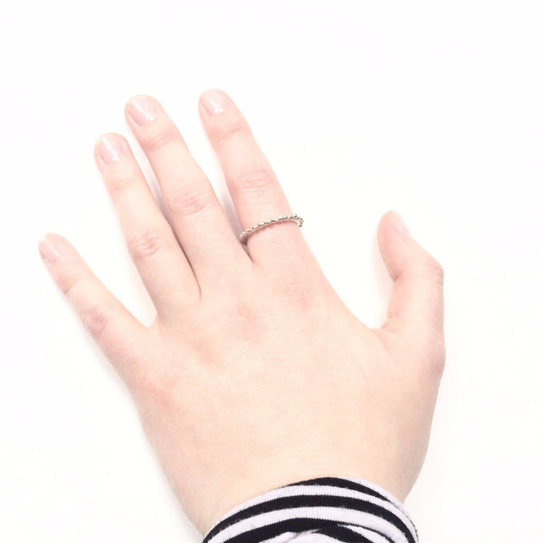 Abby Seymour — Sterling Silver Halftone Ring - Australian made Jewellery