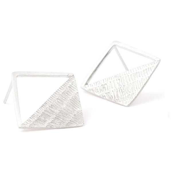 Abby Seymour — Sterling Silver Rhombus Studs Jewellery Abby Seymour | Craft