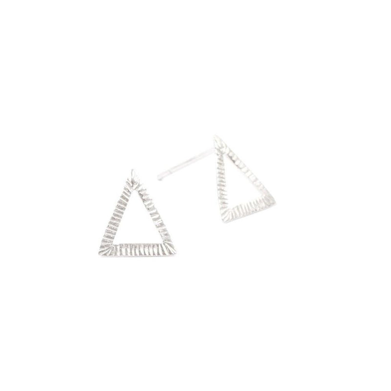 Abby Seymour — Sterling Silver Triangle Studs - Australian made Jewellery