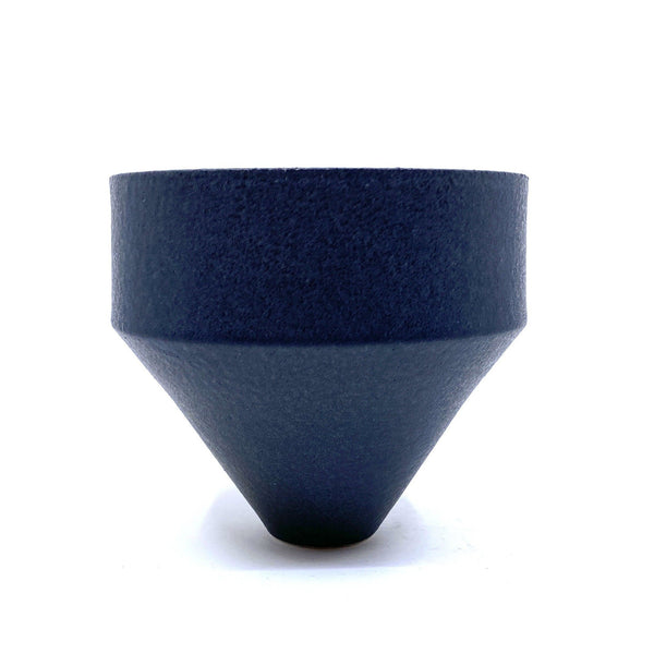 Alison Frith — Ceramic Vessel in White Raku with Midnight Ink Glaze | Sculpture Ceramics Alison Frith | Craft