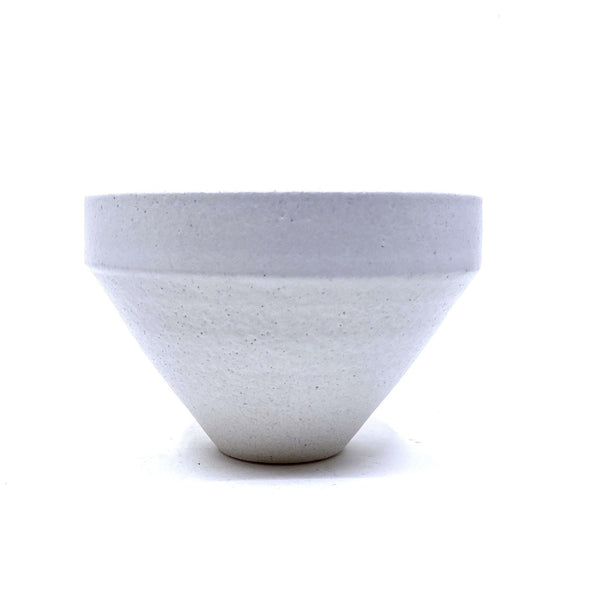 Alison Frith — Ceramic Vessel in White Raku with Satin White Glaze | Sculpture Ceramics Alison Frith | Craft