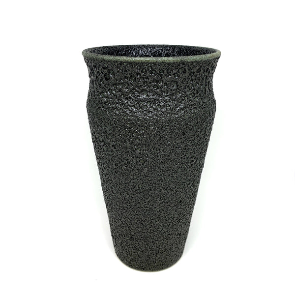 Alison Frith — Matt Black Ceramic Vase - Australian made Ceramics