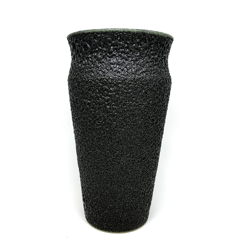 Alison Frith — Matt Black Ceramic Vase - Australian made vase medium