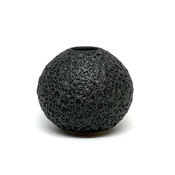 Alison Frith — Matt Black Small Round Ceramic Vase - Australian made Ceramics
