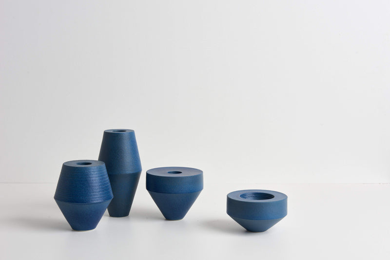Alison Frith — Sculptural Vessel in Shibori Bliue Ceramics Alison Frith | Craft