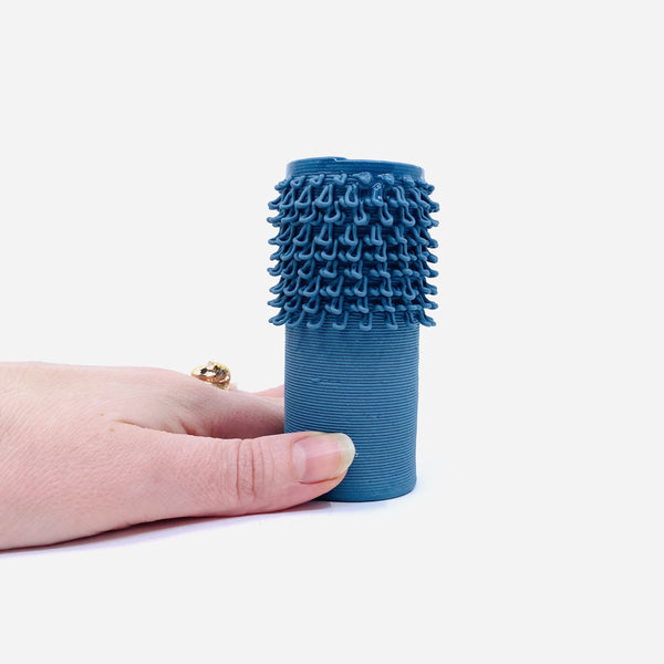 Alterfact — 3D Printed Porcelain 'Loopy - Cactus' Vase in Dark Blue - Australian made Ceramics
