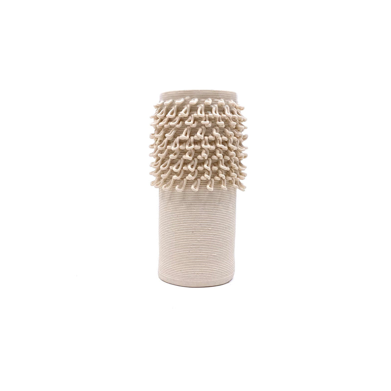 Alterfact — 3D Printed Porcelain 'Loopy - Cactus' Vase in Orange - Australian made Ceramics