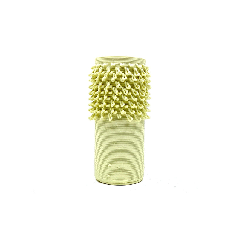 Alterfact — 3D Printed Porcelain 'Loopy - Cactus' Vase in Pale Yellow Ceramics Alterfact | Craft