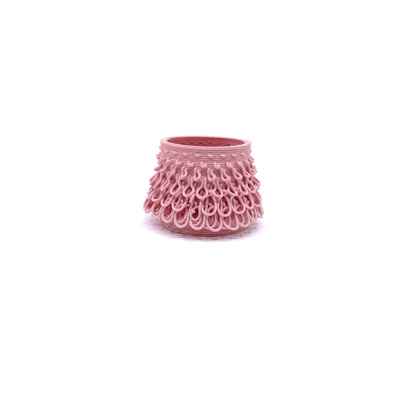 Alterfact — 3D Printed Porcelain 'Loopy - Tutu' Vessel in Pink - Australian made Ceramics