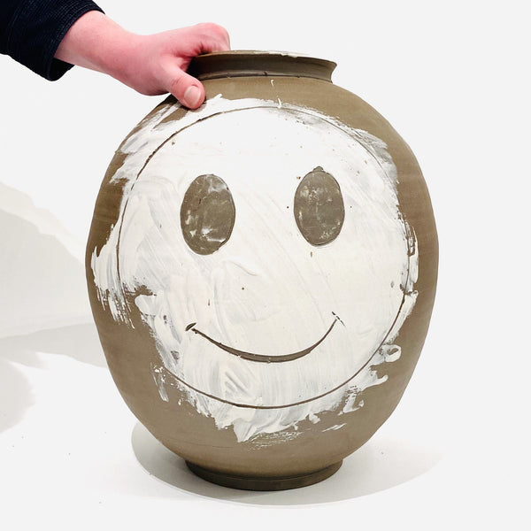 Andrei Davidoff — Extra-Large 'Smiley Face' Vase | Sculpture - Australian made sculpture