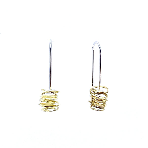 Anna Davern — 18ct Gold Coil Earrings - Australian made Jewellery