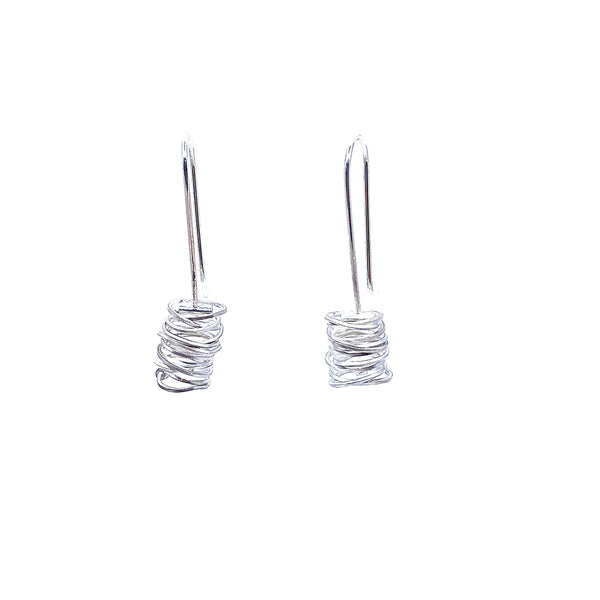 Anna Davern — Silver Coil Earrings - Australian made Jewellery