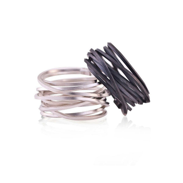 Anna Davern — Silver Coil Ring - Australian made Jewellery