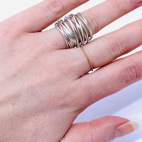 Anna Davern — Silver Ultra Coil Ring - Australian made Jewellery