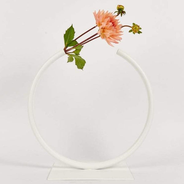 Anna Varendorff, ACV Studio — White Almost a Circle Vase - Australian made Jewellery