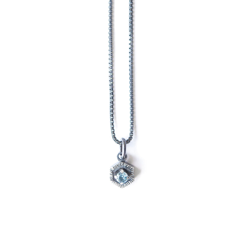 Aurelia Yeomans — Blue Topaz and Sterling Silver 'Blue Waters' Necklace - Australian made Jewellery
