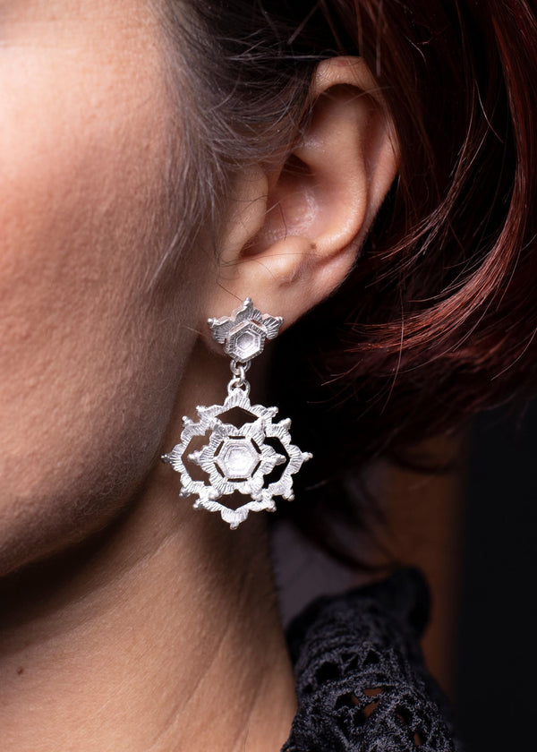 Aurelia Yeomans — Sterling Silver 'Water Mandala' Earrings - Australian made Jewellery