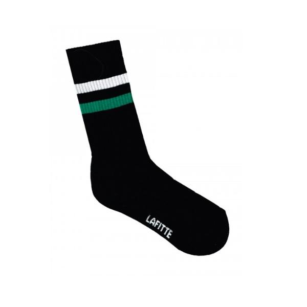 Australian Made Black Striped Crew Socks - Australian made Textiles